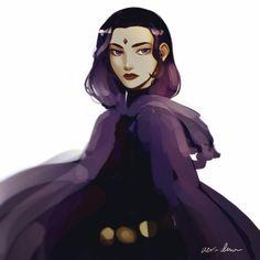 Ectia Pontius, the Grand Priestess Raven Teen Titans Go, Teen Titans Fanart, Comic Book Characters, Comic Character, Raven Fanart, Raven Beast Boy, Robin, Comics Girls, Detective Comics