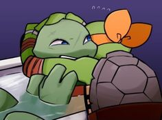 Mikey is so sweet! TMNT