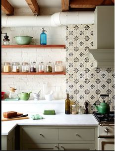 backsplash tile, cabinetry