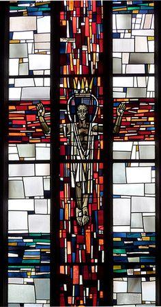Detail of Stained Glass Window, Johnneskirche, Stuttgart Germany