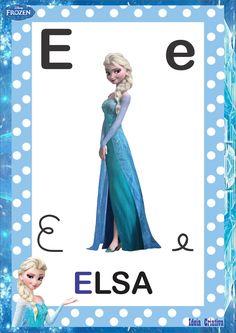 Alfabeto 4 Tipos de Letra Frozen para imprimir grátis                                                                                                                                                                                 Mais