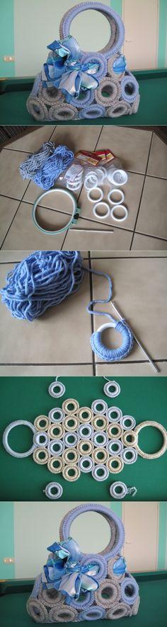 """Szydełkowa letnia torba z przędzy Yarnart """"Macrame"""" - Knitting - Country Mom Crochet Necklace, Handbags, Purses, Creative, Womens Fashion, Jewelry, Disney, House, Ideas"""