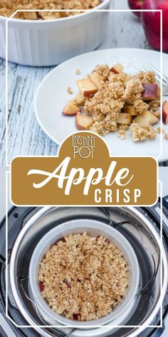 This Pressure Cooker Apple Crisp is delicious, healthy and it only takes a few minutes.    Since the ingredients of this Instant Pot recipe are naturally sweet, you just need to add a little bit of maple syrup, which is good for your health and shape too!    Use spices without moderation for a warm and flavorful fruit dessert which is perfect for any cold winter night!