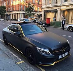 LG EXOTIC AUTO TRANSPORT Got one?  Ship it with http://LGMSports.com Matte black Mercedes S500 coupe gild trim