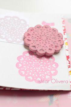 Doily stamp by Ishtar olivera ♥, via Flickr