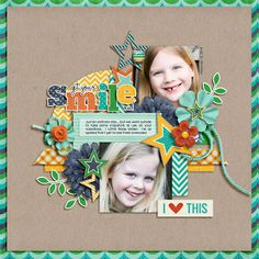 Layout by WendyW Everyday Life by Megan Turnidge & Tickled Pink Studio and Froggie Freebee Template 27 by Little Green Frog Designs