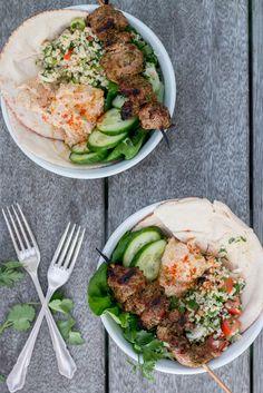 Chermoula Lamb with Tabouli and Hummus | The Brick Kitchen-6