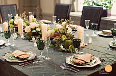 Gorgeous Green Tablescape.