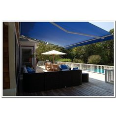 Found it at Wayfair - Retractable Patio 13ft. W x 8ft. D Awning