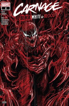 """Its focus on such a terrifying character makes for some crazy stories and this issue is a perfect example of that. "" James reviews Carnage: Black, White & Blood #2 from Marvel."