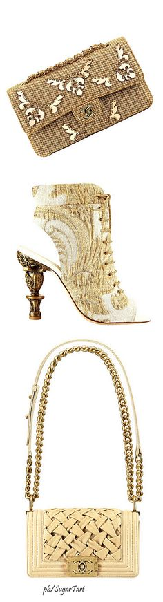 Chanel ~ Neutral Bags+ Embroidered Shoe