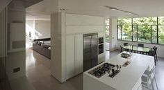 kitchen dining living. interesting/ K-House by Paz Gersh Architects