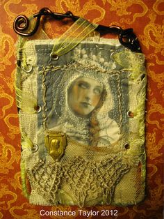 I think this is so amazing. Art Card by Constance Taylor. see her work on flickr.