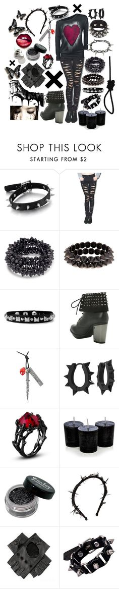"""Don't You Miss Me?"" by xxx-marshmallow-of-death-xxx ❤ liked on Polyvore featuring Tripp, Natasha, Hot Topic, Disney, West Coast Jewelry, Gigi Burris Millinery, Black and Joomi Lim"