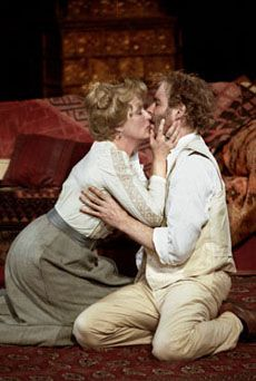 2001: Streep and Kevin Kline in Chekhov's 'The Seagull' at the Delacorte Theater in Central Park. Directed by Mike Nichols, the play also starred Philip Seymour Hoffman, Christopher Walken, Marcia Gay Harden, John Goodman and Natalie Portman. Incredible cast.