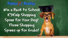 Win a Back to School K9Kelp Shopping Spree - Fidose of Reality