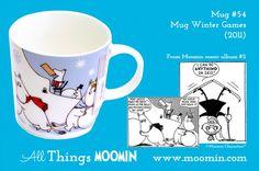 Moomin mug Winter Games by Arabia - Moomin Moomin Mugs, Ski Jumping, Winter Games, My Childhood, Troll, Skiing, Fancy, History, Comics