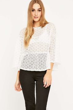Pins & Needles Lace Tiered Top