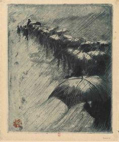 Henri Riviere, 1885, etching