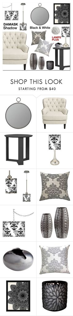 """Damask Shadow"" by lampsplus ❤ liked on Polyvore featuring Cooper Classics and Giclee Glow"
