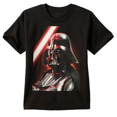 Boys 8-20 Star Wars Darth Vader Tee, Black