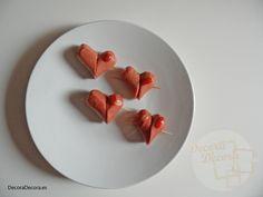 Receta fácil salchichas corazón para San Valentín.