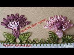 kolay ve gösterişli ikiz çiçek iğne oyası ve yapımı sesli anlatım ( iğne oyası modeli örnegi ) ) - YouTube