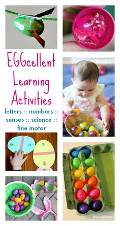 easter egg activities - Brilliant ideas for combining play and learning - all with an Easter theme.