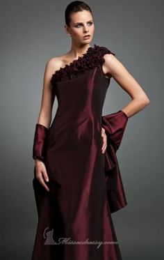 One Shoulder Gown by Daymor Couture 212 in BLACK too $530