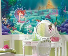 Fototapete mit Ariel über dem Schminktisch