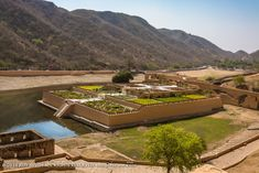 Amer Fort 008: The beautiful floating garden called Dil-e-Aaram garden. Rajasthan India, Jaipur, Amer Fort, Floating Garden, River, Photography, Outdoor, Beautiful, Outdoors