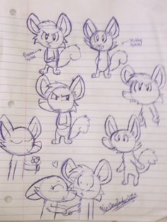 Some pen drawings of Blueeyes and Skyblue Squirrel. #comic #artist #Alpha_and_Husky_tales #art #creativeniaarts #blueink #love #drawings