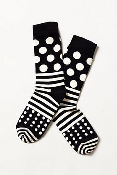 Dotted Line Socks  #anthropologie