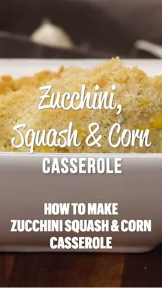Healthy Side Dishes, Vegetable Side Dishes, Side Dish Recipes, Squash Pasta, Zucchini Squash, Cornbread Casserole, Casserole Recipes, Zuchinni Recipes, Vegetable Recipes