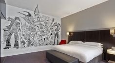 'The Pearly Room' by Chris Price, part of the Room With A View project - a series of East London inspired guest rooms