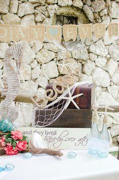 Beautiful beach wedding decorations!