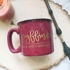 Hogwarts house mugs! Gryffindor campfire mug