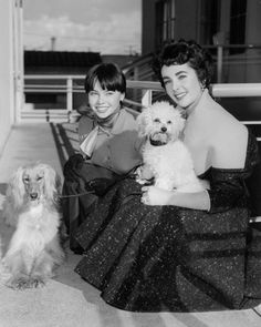 Leslie Caron &  Elizabeth Taylor/ Follow April, -she pins the best pics of all our favorite old movie stars.