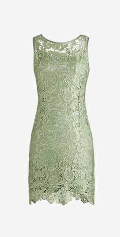 Dressystar Short Sage Lace Prom Party Gowns Column Scoop Dress