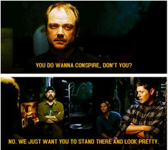 Supernatural - Mark Sheppard, Jim Beaver, Jensen Ackles and Jared Padalecki
