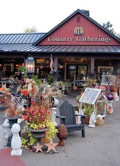 Country Gatherings is on the same property as Village Gift Barn.  Lots of Fairy Garden supplies and Primitive wares for the home.  Main Street, Berlin.  A favorite shopping spot of mine.