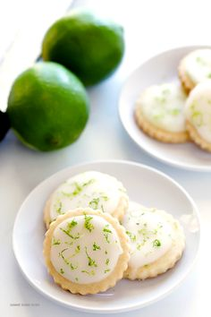 Coconut Lime Shortbread Cookies -- full of fresh lime, coconut, and buttery flavors, and topped with a light lime glaze. One of my all-time favorite cookie recipes!   gimmesomeoven.com