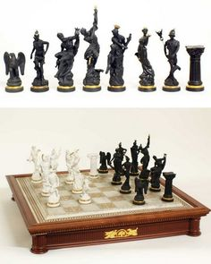 Chess set of the gods by The Franklin Mint