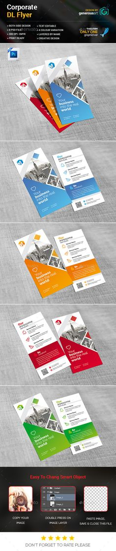 DL Flyer Template PSD