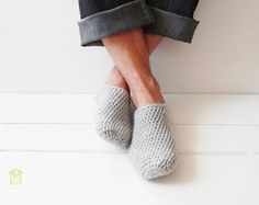 Keep your feet warm and cozy with handmade slippers! The slippers are extra thick and sturdy, yet surprisingly lightweight and soft. They are intended to be used indoors and fit more like socks then shoes. Spend warm and cozy evenings at home with these beautiful slippers. Slippers are made from acrylic yarn. They are thick and warm and very healthy for your feet. Its ready for shipping…