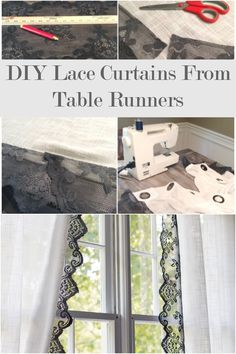 Add a beautiful lace border to ready-made curtains easily ~ the lace can be dyed to coordinate with your decor.