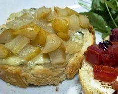 Le Garb: Bistronomia: Brusqueta & Bruschetta: Pera ao mel e gorgonzola
