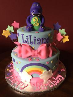 I can finnaly eat barney! Barney Birthday Cake, Barney Cake, Barney Party, Birthday Cake Girls, Frozen Birthday, 2 Year Old Birthday Party Girl, 2nd Birthday Parties, Birthday Ideas, Aaliyah Birthday