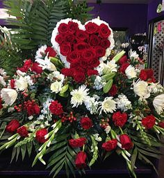 Celebrating the life and memory of a loved one or friend is something that comes from the heart, and this truly original sympathy arrangement. Casket Flowers, Grave Flowers, Cemetery Flowers, Church Flowers, Funeral Flowers, 800 Flowers, Funeral Floral Arrangements, Creative Flower Arrangements, Beautiful Flower Arrangements