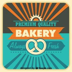 Vector style bakery poster